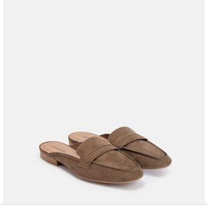 Maryellen in Olive loafer slides